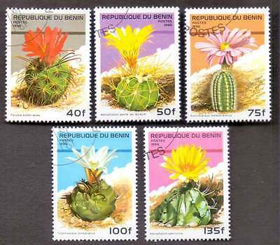 BENIN (14/1) 1996 Beautiful Cactus Flowers 5 Diff. Stamps ! Gift Your Children !
