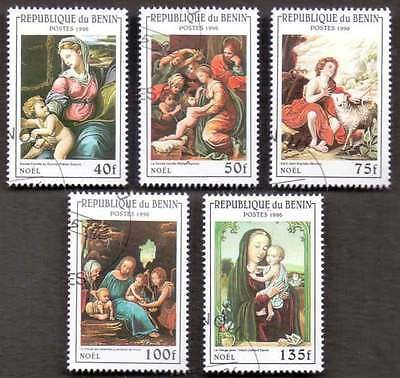 BENIN (11/1) 1996 Art Paintings 5 Diff. Stamps ! Gift Your Children !