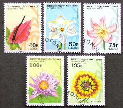 BENIN (05/1) 1995 Flowers 5 Diff. Stamps ! Gift Your Children !