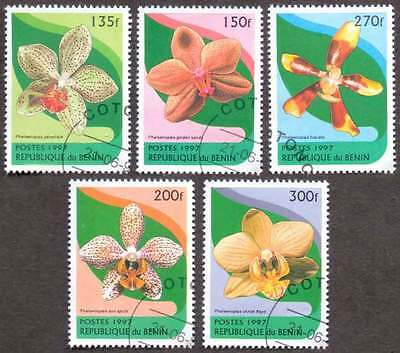 BENIN (32/1) 1997 Wild Flowers 5 Diff. Stamps ! Gift Your Children !