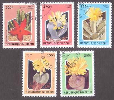 BENIN (34/1) 1997 Cactus Flowers 5 Diff. Stamps ! Gift Your Children !