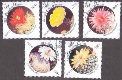 BENIN (35/1) 1999 Cactus Flowers 5 Diff. Stamps ! Gift Your Children !