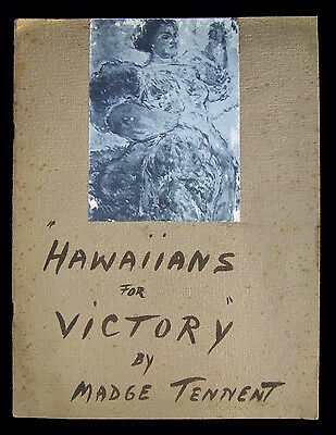 RARE 1943 ARTIST SKETCH BOOK HAWAIIANS FOR VICTORY Artist Signed MADGE TENNENT