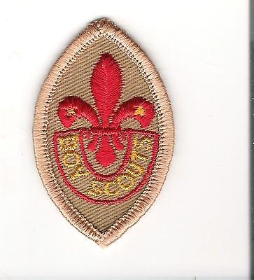 Scouts Canada - vintage merit proficiency grade badge  -embrodiered - tenderfoot