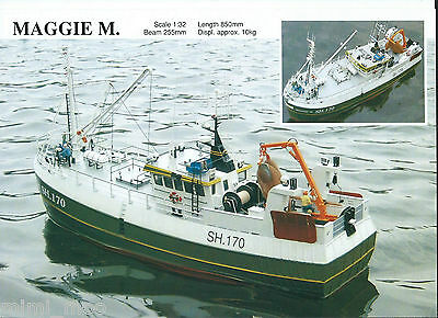 Model Slipway Boat Kit MAGGIE 'M' Trawler  Scale 1/32  Length 850mm For RC NEW