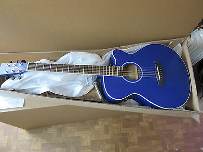 Half Price, Perfect, Folk Size Electro Acoustic Cutaway  Blue Guitar Rrp £199.99