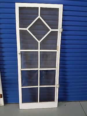 Vintage Genuine Australiana Fly Screen Door with original Hardware lock & hinges