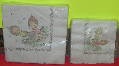 Vintage Betsey Clark Hallmark Party Napkins 2 Packages Luncheon/Beverage 1970s