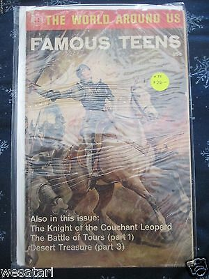 The World Around Us FAMOUS TEENS #33 RAREST VG+