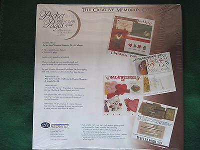 Creative Memories - 12x12 WHITE POCKET PAGES w/ write in- 5 sheets Original  NIP