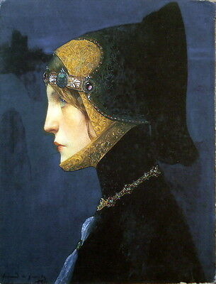 Scevola Painting Print on Canvas Medieval Profile Ready to Hang Museum Quality