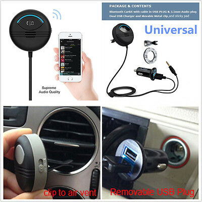 Car Noise Cancelling AUX Bluetooth Handsfree Charger Air Vent Bluetooth Car Kit