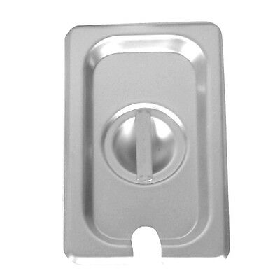 1 Piece WINCO Lid Slotted for Stainless Steel 1/9 Steam Table Pan SPCN NEW