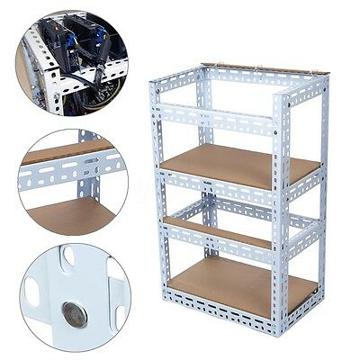 Steel 2-Layer Shelf Open Air Frame Crypto Coin For 8 GPU Bitcoin Mining Rig Case