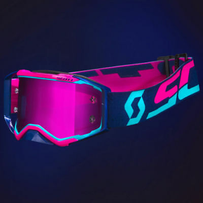Scott Prospect Brille Goggle MX Motorcross Fluo mint pink NO Airbrake / NEW