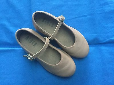 Bloch Tan Leather Tap Dance Shoes - Size 9½ (Child)