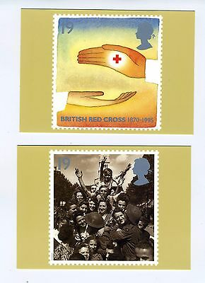 GB PHQ 1995 Stamp card set No 170 Peace & Freedom 5 card set. Mint Condition