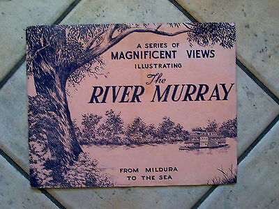 1940's BOOK VIEWS OF THE RIVER MURRAY - FROM MILDURA TO THE SEA