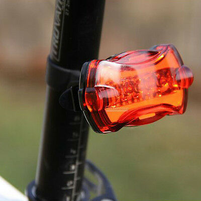 New Cycling Bike Bicycle 5 LED Taillight Safety Warning Lamp Rear Light 6 Model