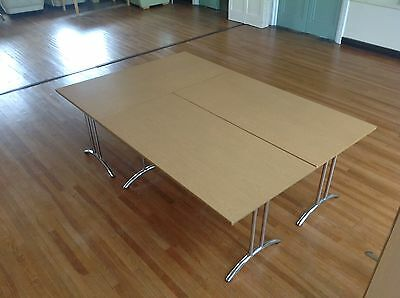 10 Folding & Stacking Conference Office Meeting RoomTables in BEECH 1600mm