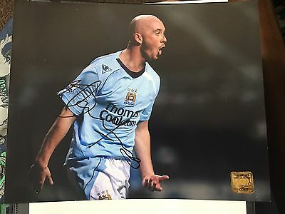 Hand Signed Stephen Ireland Manchester City Photograph With COA