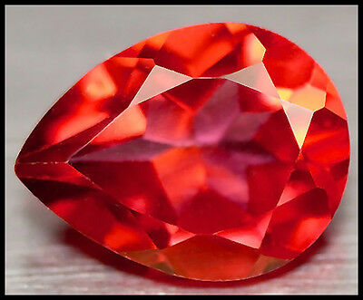 BUY IT NOW!!! STUNNING 2.06ct VVS BRAZIL ORANGE RED AZOTIC TOPAZ PEAR 9X7MM