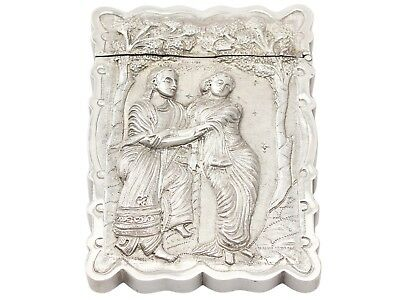 Antique Indian Silver Visiting Card Case 1850-1899