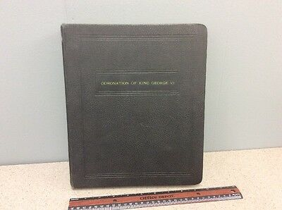 Rare CORONATION OF KING GEORGE VI complete stamp album. Must see! THORP MARTIN