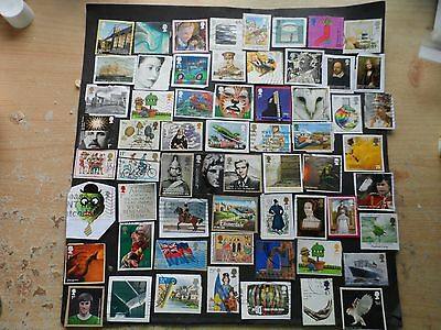 g.b.modern used commorative stamps  on & off paper space fillers