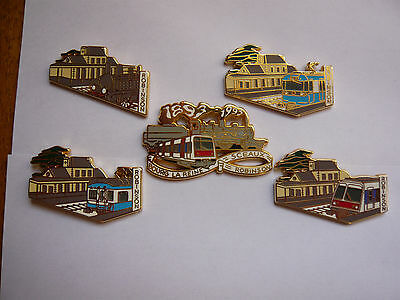 rare lot 5 pin s a m c gare robinson different neuf