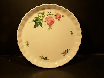 "Christineholm ""roses""  9 1/2"" Quiche Dish"
