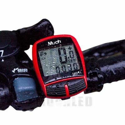 Wireless Waterproof Cycle Bicycle Bike LCD Computer Speedometer Odometer Speed