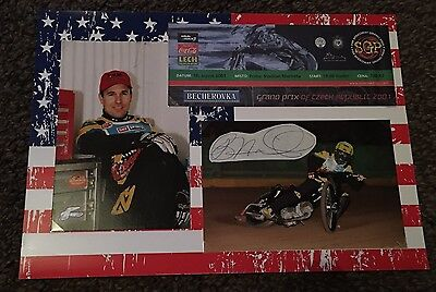 Hand Signed Billy Hamill USA & Coventry Bees Signed Display & 2001 GP Ticket