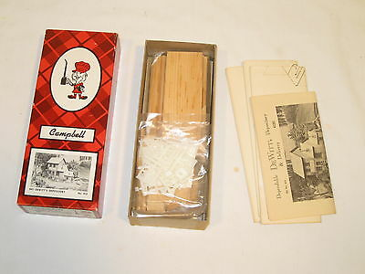 Campbell Scale Models Ho-Dewitt's Depository #412  Wood  Kit  New Ob
