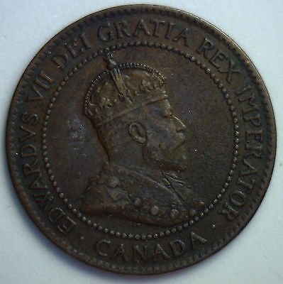 1903 Canadian Copper Large Cent Coin Canada One Cent Lot XF17