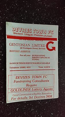 Devizes Town V Frome Town 1981-82