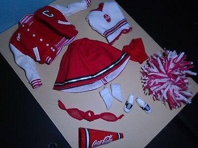 BARBIE Coca Cola (Coke) Cheerleader Doll De-Boxed FASHION 4th in Series  2000'