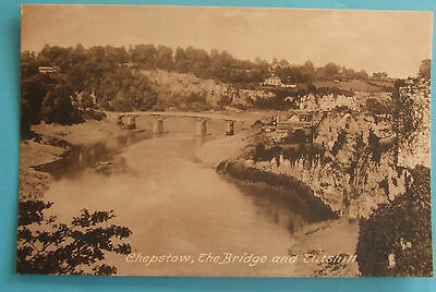 4 FRITHS Postcards c.1910 THE BRIDGE AND CASTLE CHEPSTOW MONMOUTHSHIRE WALES