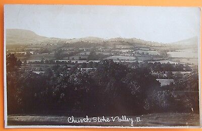 RP Postcard POSTED c.1915 CHURCHSTOKE VALLEY MONTGOMERYSHIRE WALES