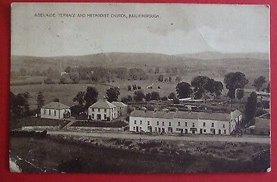 Postcard POSTED 1929 ADELAIDE TERRACE & CHURCH BAILIEBOROUGH Co.CAVAN IRELAND