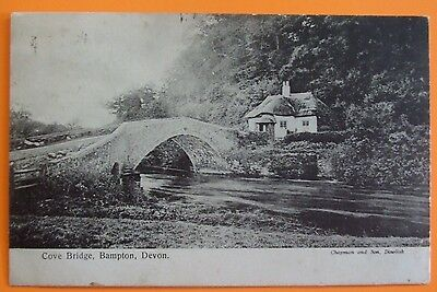 CHAPMAN & SON Postcard POSTED 1904 COVE BRIDGE BAMPTON DEVON