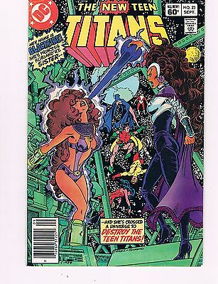 New Teen Titans #23  (1982 Dc)  1St Appearance Of Blackfire