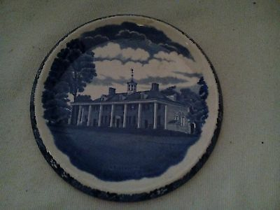 Souvenir Mount Vernon Hot Plate Adams Potteries Jonroth England Staffordshire Fl