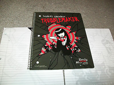 EMILY THE STRANGE World's Greatest Troublemaker Notebook, Paper Stationery NEW!