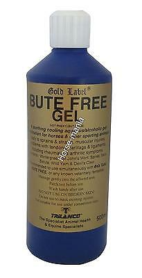 GOLD LABEL BUTE FREE GEL 500ml IDEAL FOR COOLING HORSES LEGS & MUSCLES