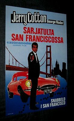 Original FINNISH 1969 DEATH IN THE RED JAGUAR Vintage Poster NOT A REPRINT