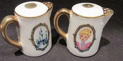 Walt Disney Productions Disneyland Castle & People Pair Salt & Pepper Shakers