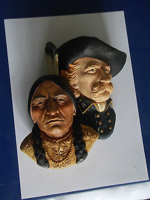 Bossons Head of Colonel Custer and Chief Sitting Bull 1989