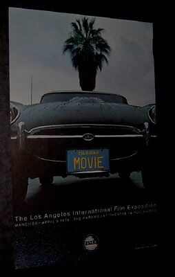 Original FILMEX 74 LOS ANGELES FILM FESTIVAL Vintage Poster NOT A REPRINT Jaguar