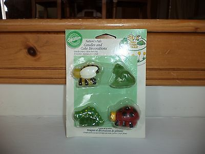 New Wilton Nature's Pals Candles Cake Decorations Bee Frog Ladybug Caterpillar